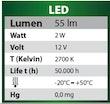 Energielabel LED-Beleuchtung Wasserfall-Element mit 60 cm