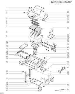 Weber Spirit E-210 Open Cart LP Blk (2009) (Germany)