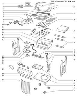 Weber Spirit E-330 Classic LP Blk w/GBS (DE/AT)