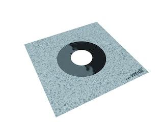 WEDI Tools Dichtmanschetten vlieskaschiert, dehnbar, DN 40-75, 150x150mm