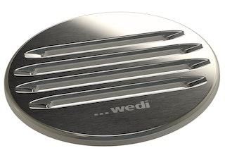 WEDI Fundo Fino Ablaufabdeckungen rund, Ø 115 x 5 mm, Edelstahl