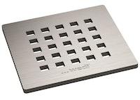 WEDI Fundo Fino Ablaufabdeckungen eckig, 115 x 115 x 5 mm, Edelstahl-Quadratisch-Fino 5.1 (Quadrate)