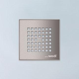 WEDI Fundo Fino 6.1, 115 x 115 mm, flach mit Kunststoffrahmen, Edelstahl