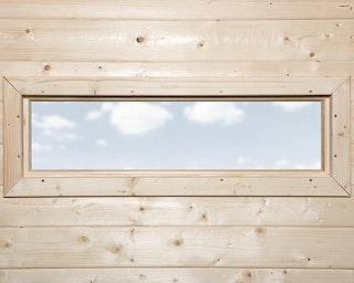 Weka Zusatz-Einzelfenster schmal für Weka Designhäuser 172 & 126 und Gartenlaube 657 und alle 21/28 mm Weka Gartenhäuser