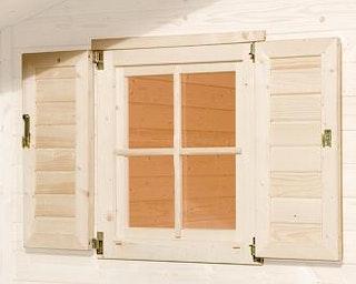 Weka Fensterladen 2- teilig für Weka Weekendhaus 138