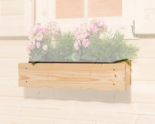 Weka Blumenkasten 60 cm naturbelassen