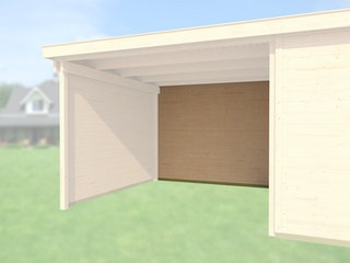Weka Rückwand für Anbau 450 cm für Designhaus 225
