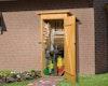 Weka 14 mm Garten- und Terrassenschrank 361 mit Flachdach