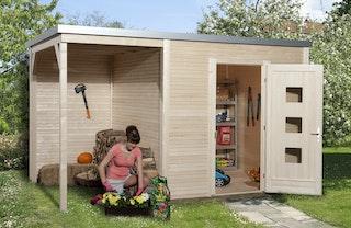 Weka Designhaus 413 A 45 mm inkl. 150 cm Anbau