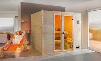 Weka Sauna Valida Plus mit Glastür/Fenster/9 kW Ofen - Sparset