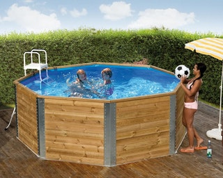 Weka 45 mm Massivholz Swimmingpool 593 A - 376 x 376 cm