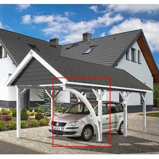 Weka Leimholzrundbogen für Einzelcarport 614/615 Leimholz Flach- und Satteldach