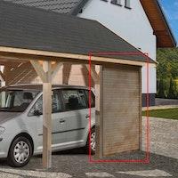 Weka Seitenwandelement für Einzelcarport 614/615 Leimholz Flach- und Satteldach