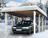 Weka Garage Carport 609 mit Massivholzdach