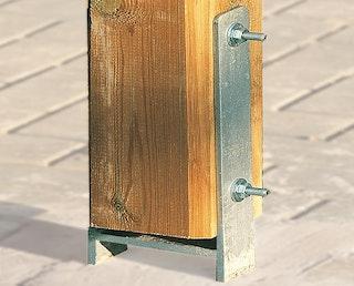 Weka H-Anker-Set für Lagerhaus 606 1-4 (6 Anker für 9 x 9 cm Pfosten)