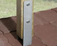 Weka H-Anker-Set für Y-Einzelcarport (4 Anker für 12 x 12 cm Pfosten)