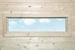 Weka Zusatzfenster feststehend B 125 x H 40 cm, Echtglas für 21 & 28 mm Wandstärken