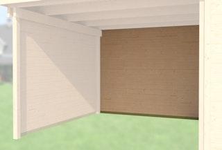 Weka Rückwand für Anbau 150 cm für Designhaus 126 und 172