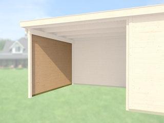 Weka Seitenwand für Anbau 300 cm tief für Designhaus 126, 172 & 225