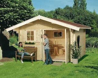 Weka Gartenhaus 109 mit Vordach (60 cm)