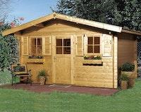 Weka 28 mm Gartenhaus 110 mit Vordach (60 cm)