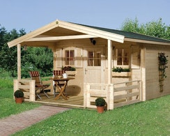 Weka 28 mm Gartenhaus 110 B mit Vordach + Terrasse | Mein ...