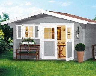 Weka 28 mm Gartenhaus 111 mit Vordach (60 cm)