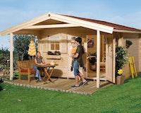 Weka 28 mm Gartenhaus 111 A mit Vordach (200 cm)