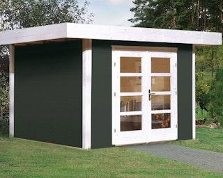 Weka 28 mm Designhaus 126+ mit extra hoher Tür - 28 mm