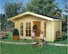Weka 45 mm Weekendhaus 137 mit Vordach (60 cm)