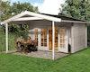 Weka 45 mm Weekendhaus 137 A mit Vordach (200 cm)
