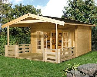 Weka 45 mm Weekendhaus 137 B mit Terrasse +Vordach