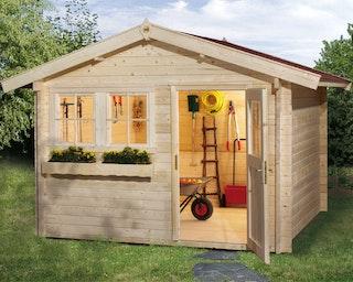 Weka 45 mm Gartenhaus 139 A mit Vordach (60 cm)