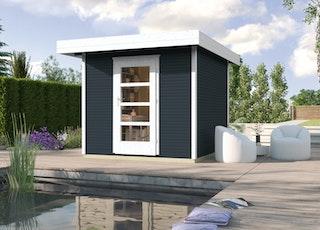 Weka Gartenhaus Designhaus wekaLine 172 mit Vordach (50 cm)