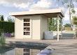 Weka Gartenhaus Designhaus wekaLine 172 A mit Anbau (150 cm)