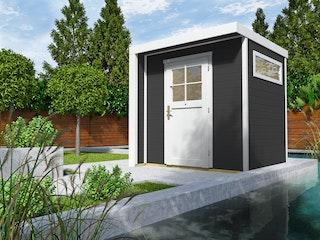 Weka Design Gartenhaus 262 mit Einzeltür - 21 mm