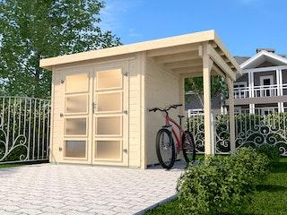 Weka Gartenhaus 321 mit 115 cm Anbau - 19 mm