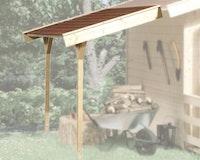 Weka Schleppdach für 28 und 45 mm Blockbohlenhäuser