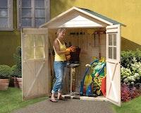 Weka 14 mm Garten- und Terrassenschrank 351/357 mit Satteldach