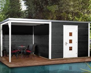 Weka Designhaus 413 B 45 mm inkl. 300 cm Anbau