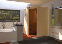 Weka Sauna Kiruna 1 mit Glastür und Eckeinstieg 230 V - 68 mm