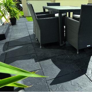 WESERWABEN Terrassenplatte Scivaro anthrazit-werkseitig versiegelt