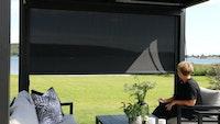 Weka Wind- und Sichtschutz für Aluminium Pavillon/Pergola Gr. 1 270 x 218 cm