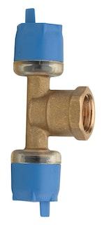 Sanitop Wiroflex WIROSTECK T-Stück 16 x 1/2 IG x 16 mm, Stecksystem