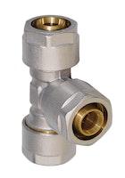Sanitop Wiroflex WIROFLEX T-Stück 20 x 20 x 20 mm Komplettlösung incl. Adapter, Schraubsystem