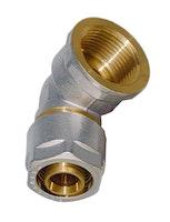 Sanitop Wiroflex WIROFLEX Winkel 16 x 1/2 IG Komplettlösung incl. Adapter, Schraubsystem