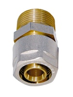 Sanitop Wiroflex WIROFLEX Klemmring-Verschraubung 16 x 1/2 AG Komplettlösung incl. Adapter, Schraubsystem