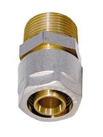 Sanitop WIROFLEX Klemmring-Verschraubung 20 x 3/4 AG Komplettlösung incl. Adapter, Schraubsystem