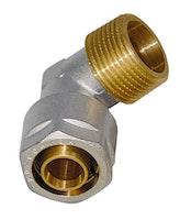 Sanitop Wiroflex WIROFLEX Winkel 20 x 3/4 AG Komplettlösung, Schraubsystem