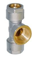 Sanitop Wiroflex WIROFLEX T-Stück 20 x 3/4 IG x 20 mm Komplettlösung incl. Adapter, Schraubsystem